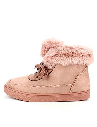Cendriyon, Basket fourrée Pink DEKS Chaussures Femme