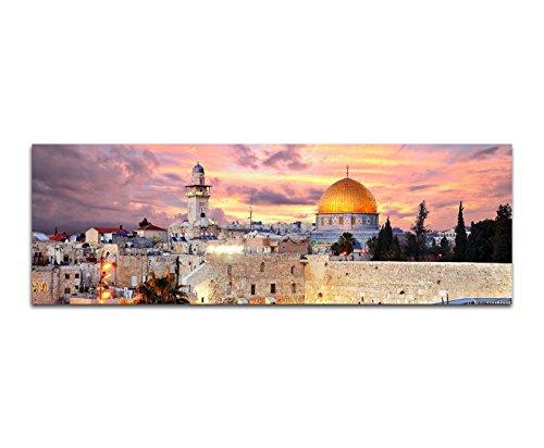 Israel Von Bild (Bilder Wand Bild - Kunstdruck 120x40cm Israel Jerusalem Mauer Tempel Altstadt)