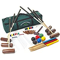 Townsend Croquet Set - 6 Player Full Size Adult Croquet Set with Regulation Weight Plastic Balls in a Canvas Bag from Garden Games