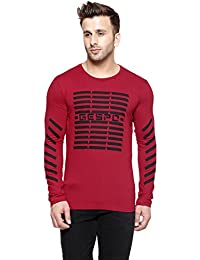 New Trendy Gespo Red Printed Round Neck Full Sleeves T Shirt
