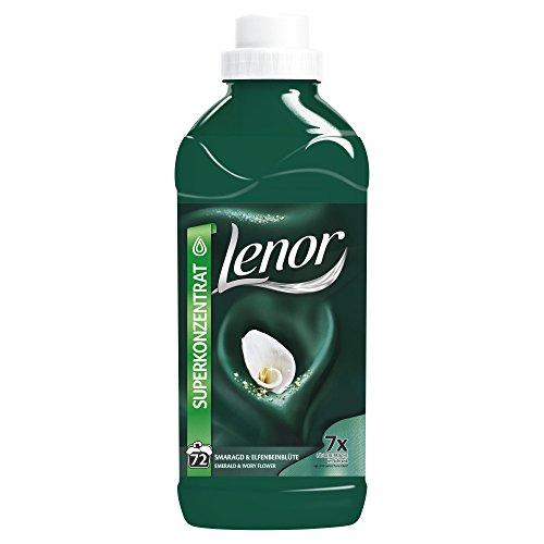 Lenor Smaragd und Elfenbeinblüte Weichspüler 1.8 l, 6er Pack (6 x 72 Waschladungen)