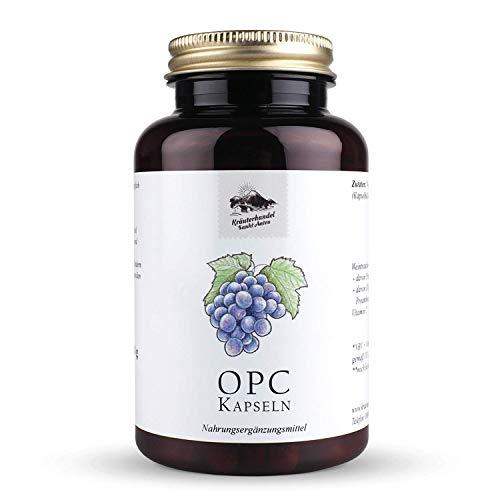 OPC Traubenkernextrakt Kapseln • 500 mg reines OPC • hochdosiert • mit Vitamin C • 120 Kapseln (4 Monatsvorrat) • OHNE Magnesiumstearat • Deutsche Premium Qualität • Kräuterhandel Sankt Anton