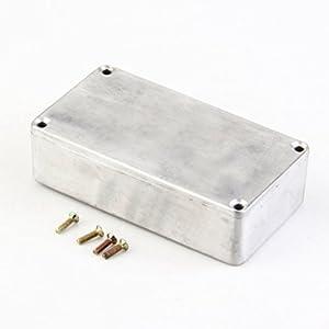 Delicacydex Tragbare Aluminium Musikinstrumente Kit Kabel Stomp Box Effekte Pedal Gehäuse Für Gitarre Effekt Stil Fällen Halter