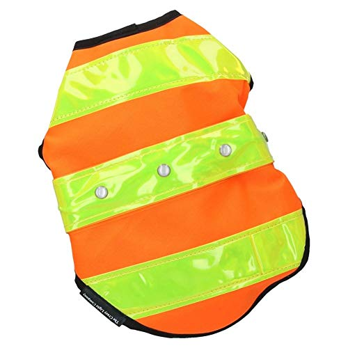 DrillMan Hundejacke, Rosenholz, hohe Sichtbarkeit, Größe M, Orange/Gelb