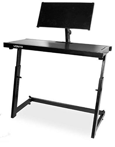 Vonyx DS20 - DJ-Pult, Equipment-Ständer, Laptop-Ständer, transportabel,