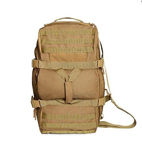 Zaino 50L borsa tattica del camuffamento viaggio trekking portatile uno spalla spalle zaino multiuso all'aperto , acu khaki