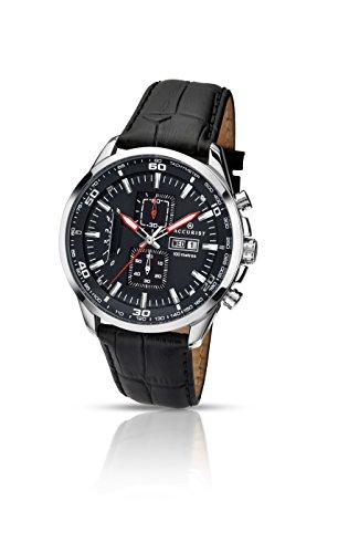 Accurist 7004.01 - Reloj de Cuarzo para Hombres, Color Negro