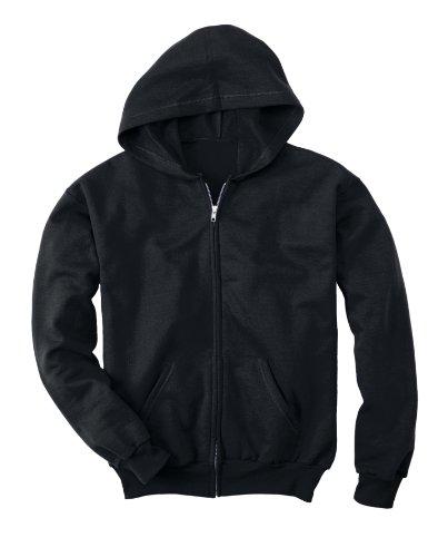 Hanes Comfortblend® EcoSmart® Full-Zip Kids' Hoodie Sweatshirt M Black
