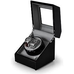 Klarstein Old Marshall Uhrenbeweger Uhrendreher Uhrenbox (für 2 Automatikuhren, verschiedene Bewegungs-Modi, Pianolack, sehr leise) schwarz