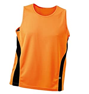 JAMES & NICHOLSON Shirt Running Tank, Orange (Orange/Black), (Taille Fabricant: Large) Homme (B0064CFFP8) | Amazon price tracker / tracking, Amazon price history charts, Amazon price watches, Amazon price drop alerts