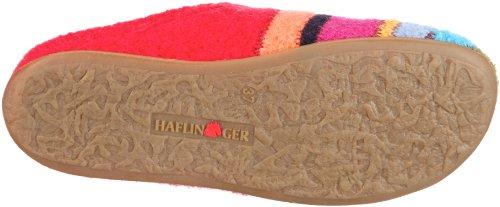 Haflinger Prisma 481004, Pantofole unisex adulto Rosso (Rot/ziegelrot)