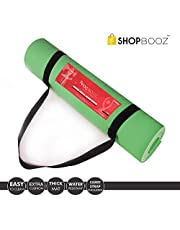 SBZ – SHOPBOOZ Yoga Mat for Gym Workout and Flooring Exercise - Yoga Mat with Strap for Men Women