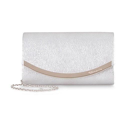 Tamaris Damen Zelda Clutch Bag, 11x5x19 cm Silber