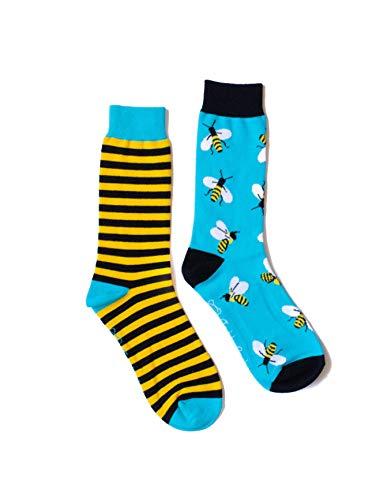 TeddySocks Calcetines divertidos abejas panal - Estampados