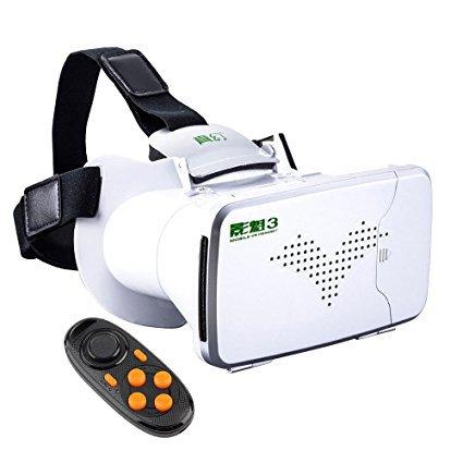 koiiko 360betrachten Immersive Virtual Reality 3D VR Brille Google Karton + Fernbedienung für...