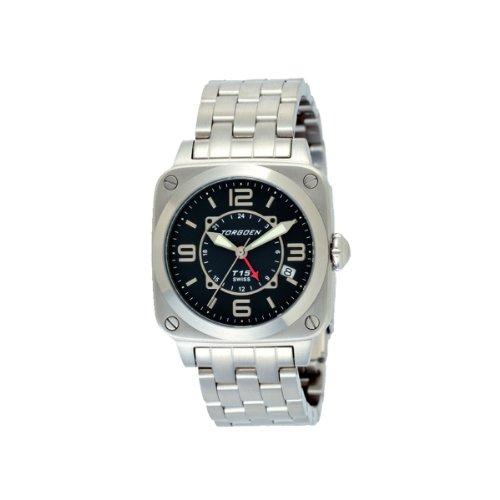 Torgoen T15604 - Reloj analógico de cuarzo para mujer con correa de acero inoxidable