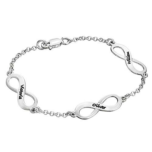 Yanday Mehrfache Unendlichkeits-Symbol-Armbänder Mode-Damen fertigten Namensarmband besonders an(Vergoldet 6.5)