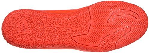 adidas X 16.3 In Leather, Scarpe da Calcio Uomo Arancione (Solar Red/Silver Metallic/Hi-Res Red)