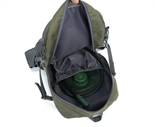 Lily's Locker - 30L Rucksack Damen und Herren Outdoor-Tasche mit mehreren Stauraum zum Wandern Camping Bergsteigen Reisen Schule 29 x50 x18CM Armygrün