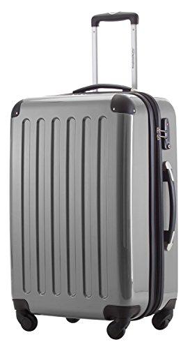 HAUPTSTADTKOFFER® 2er Hartschalen Kofferset · Koffer 87 Liter (63 x 42 x 28 cm) + Koffer 130 Liter (75 x 52 x 32 cm) · Hochglanz · TSA Zahlenschloss · SILBER Silber