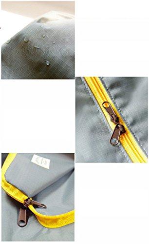 iLory Männer / Frauen-Handtaschen wasserdichte Falte Spielraum Beutel Multifunktions Reißverschluss Spielraum-Schulter Lagerung Reisetasche aus (Sky Blue) Pink