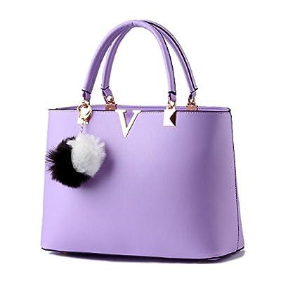 Horizontales métalliques PU cuir fermeture éclair sacs à main bandoulière fashion boule de fourrure pendentif platine simple sac à main