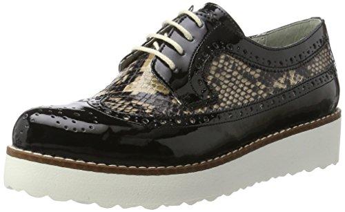 Marc Shoes Romy, Brogues Femme Schwarz (Black)
