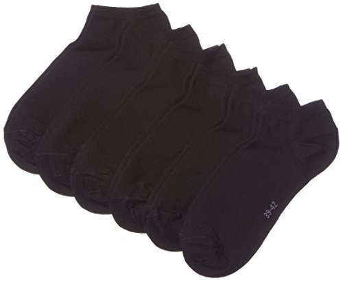 MyWay Herren Sneakersocken, 6er Pack, Gr. 43/46, Schwarz (black 610)