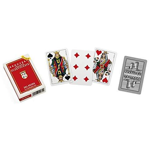 Dal Negro 014008 Genovesi 35 Extra italienische Spielkarten, rote Hülle, 40 Karten -