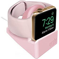 Orzly Night-Stand Compatible avec Apple Watch Rose - Station de Charge Mode Nightstand - Station d'accueil - Compatible Apple Watch 38 mm / 42 mm / 40mm / 44mm