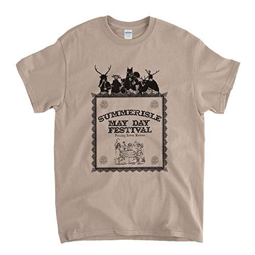 Inspired by The Wicker Man T shirt - Summerisle Midsummer Festival (M) - Man-shirt Wicker
