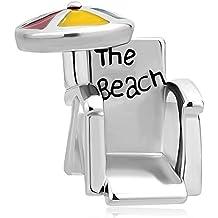 Uniqueen verano silla de playa con sol paraguas cuentas para pulseras
