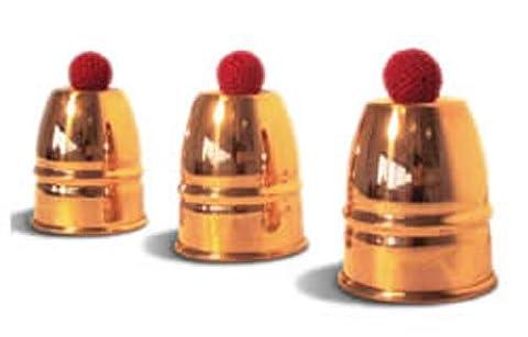 Copper Cups & Balls (With 4 balls) - Magic Trick