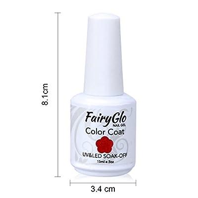 FairyGlo Pick Any 3 Colors Soak Off Gel Nail Polish UV LED Color Nail Art Gift Set