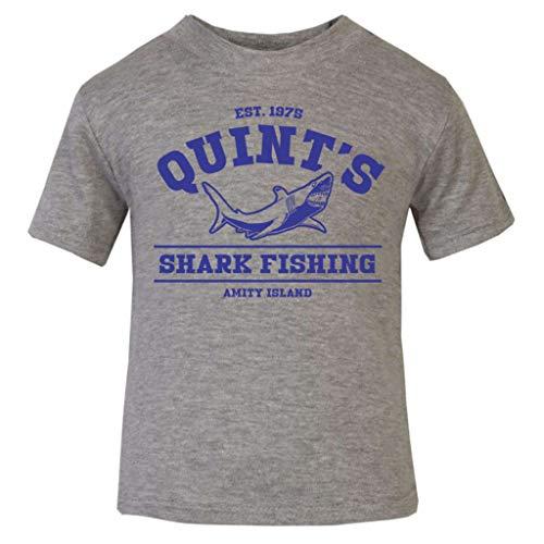 Jaws Quints Shark Fishing Baby and Toddler Short Sleeve T-Shirt (Geek Kostüm Kinder)