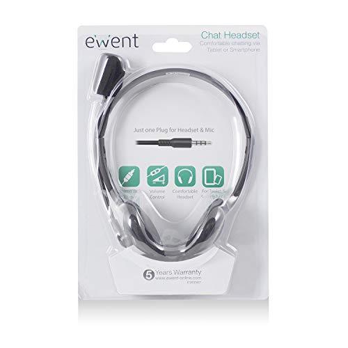 Ewent ew3567 cuffia con microfono per il computer portatile iphone samsung smartphone ps4 new x-box tablet pc ipad ipod mp3, jack unico 4 pin 3.5mm per cuffie e microfono