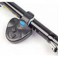 Mini Electrónica Inalámbrica ABS Fish Bite Alarma Sonido Corriente LED Sensible Mat Accesorios de Pesca Negro