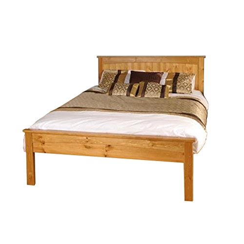 5ft King Solid Low end Wooden Bed Jessica in Caramel