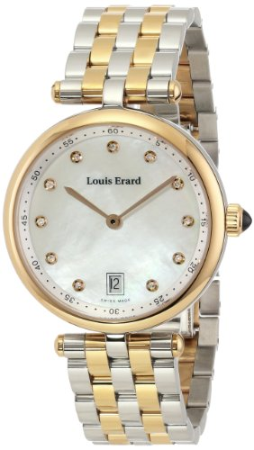 LOUIS ERARD ROMANCE 11810AB24.BMA27 LADIES 33MM DATE SAPPHIRE GLASS WATCH