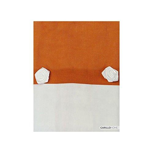 Coppia tendine funny - 60x230, arancione