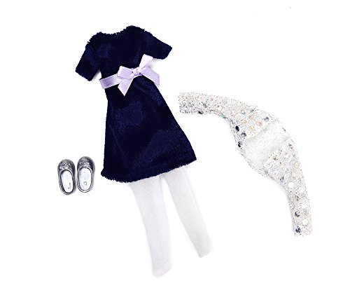 Kleidung für Puppe Lottie LT044 Blue Velvet Outfit Set - Puppen Zubehör Kleidung Puppenhaus Spieleset - ab 3 Jahren