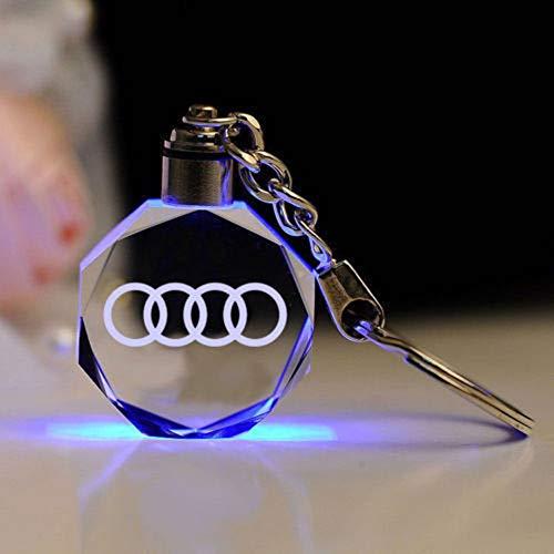 Preisvergleich Produktbild Fitracker 2018 Kreativer LED-Schlüsselanhänger mit Auto-Logo,  neuer Stil,  Kristall,  7 Farben,  Lichtwechsel,  mit Geschenkbox