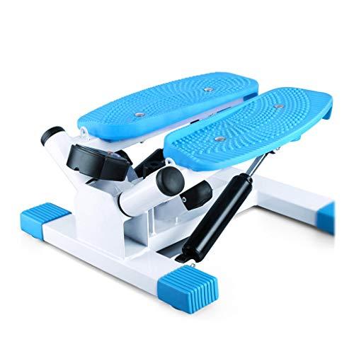 Stepper Heimfitnessgeräte Sportpedale Stummschaltung Weight Loss Stovepipe-Maschine Indoor-Klettermaschine, Lager 140KG (Color : Blue, Size : 43 * 21 * 33cm)