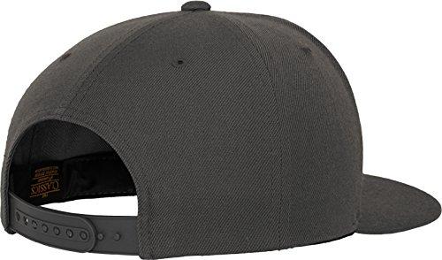 Flexfit Classic Snapback Cap, Mütze Unisex Kappe für Damen und Herren, One Size, plus extra Kindergröße darkgrey