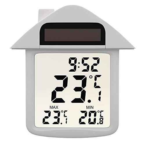 EMOS E3335 Drahtloses Digitales Fenster-Thermometer, Außenthermometer, transparent, batteriebetrieben, Kunststoff