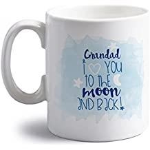 Grandad I love you to the moon and back 10 oz ceramic mug by Flox Creative