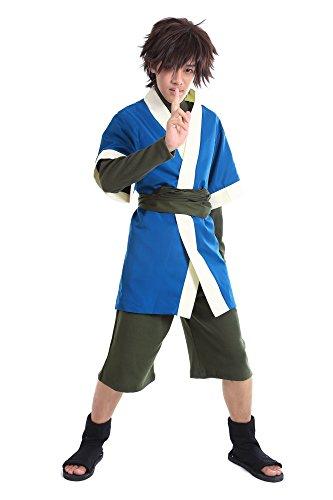 De-Cos Naruto Shippuden Hidden Mist Shinobi Haku Outfit 1st Version (Haku Kostüm Cosplay)
