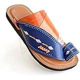 Nebras brown and blue Thong Slipper for men