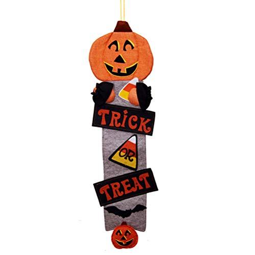 SUPVOX Halloween Süßes oder Saures Hängeschild Dekoration Happy Halloween Board Sign Tür Wandbehang Dekoration für Halloween Kids Party - Kürbis