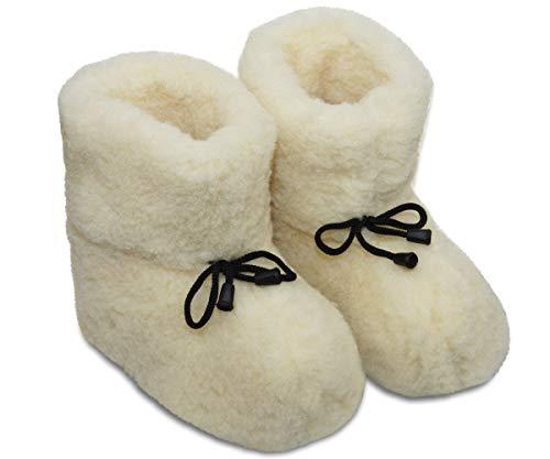 Alwero Hausschuhe Damen Winter Warme Pantoffel Herren Winter Unisex Wärme Pantoffeln (37-38, Creme)
